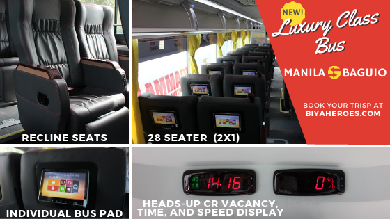 New Bus: Luxury Class Bus going to Baguio is now available online!