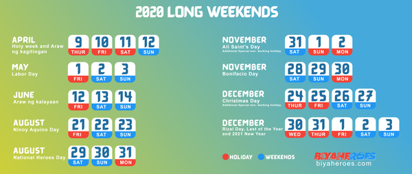 Travel Plan 2020: List of Holidays and Long weekends in the year 2020!