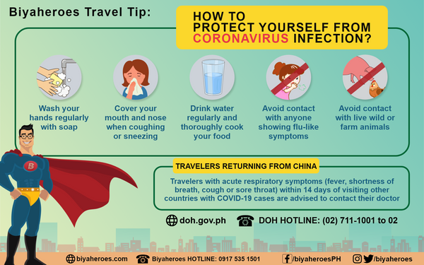 Biyaheroes Travel Tip: Keep safe from COVID-19 while traveling!