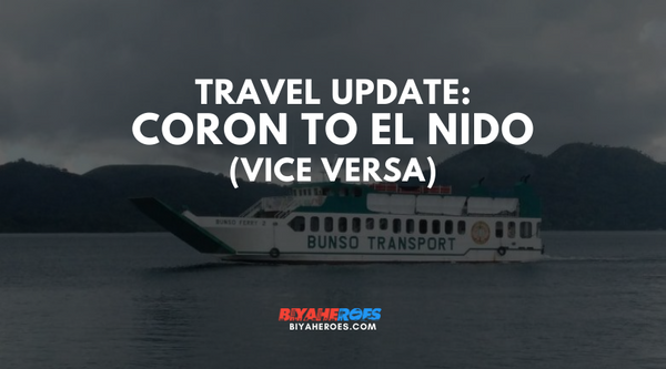 Bunso Transport: Coron to El Nido vv is BACK!